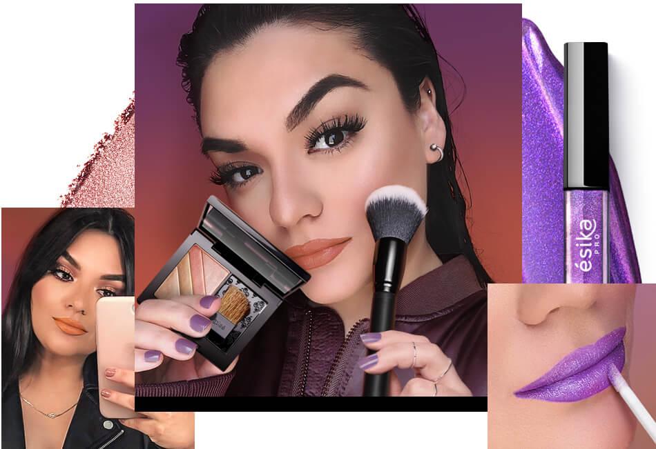Seleccion Maquillaje Esika Paloma Diaz Labial Holografico