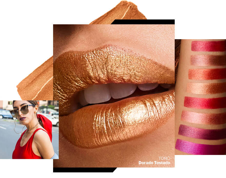 Esika Colorfix maquillaje metalizado