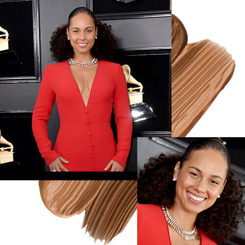 Alicia Keys Grammy 2019 Make up no Make up Base Natural Matte de Esika