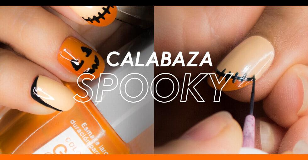 Tutorial de uñas para Halloween: Calabaza Spooky