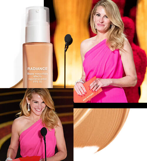 Julia Roberts maquillaje neutral y labios rosa Premios Oscar 2019