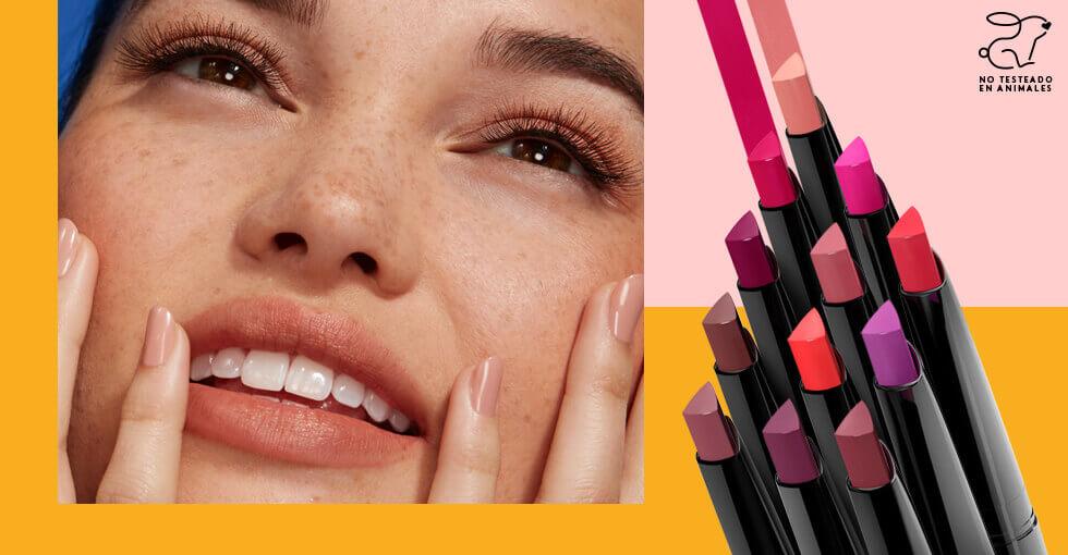 Makeup para vestido rojo Usando labial Signature