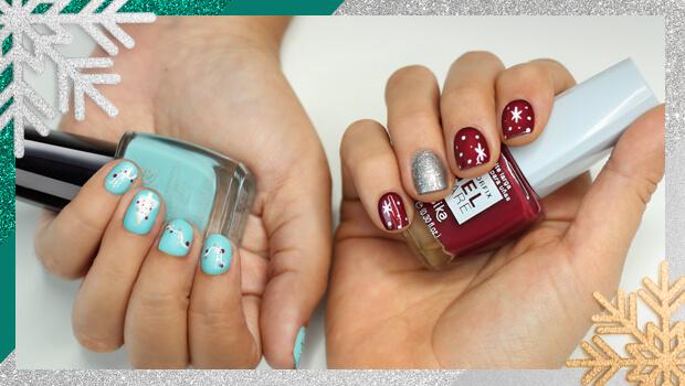 Decoración uñas navideñas divertidas