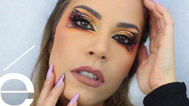 Maquillaje Mariposa Halloween ésika