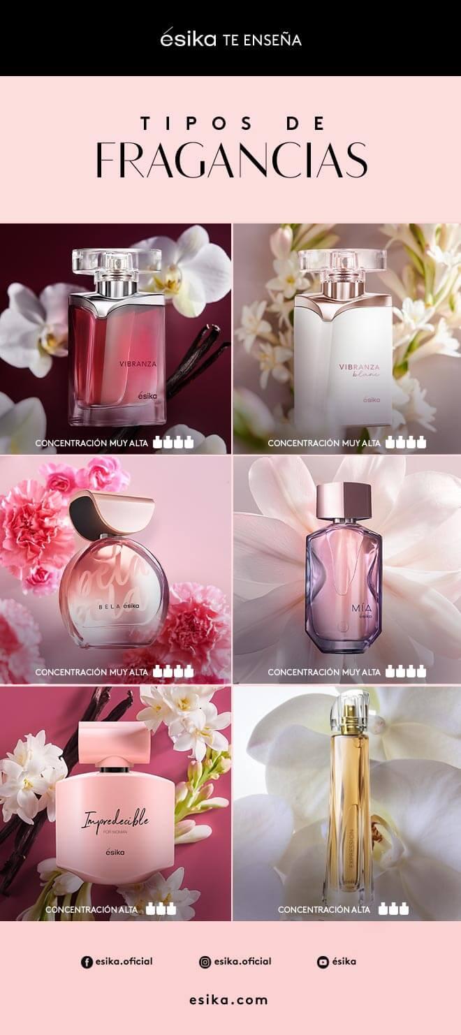 Tipos de perfumes ésika