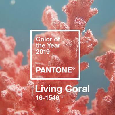 pantone coral living