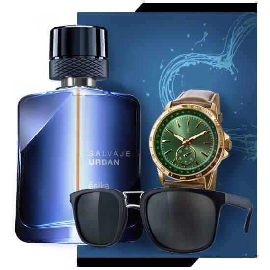 Lentes Amadeo de Reloj thajatt de Perfume Salvaje Urban de Esika
